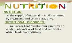Nutrition, Nutritional Disorder & Management
